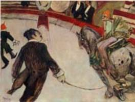 Le Cirque Fernando : le manège  (1888) ,Toulouse Lautrec,  Chicago, Art Institute