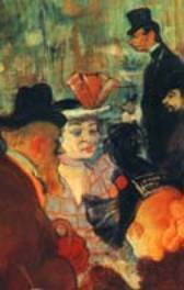 Détail du Moulin Rouge ,1892, Toulouse Lautrec,  Chicago, Art Institute